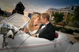 Hunter Museum Wedding Chattanooga TN vintage car