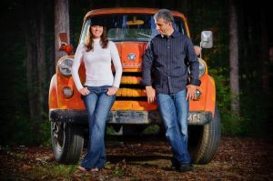 Vintage Dodge truck - Apison TN - Engagement session.