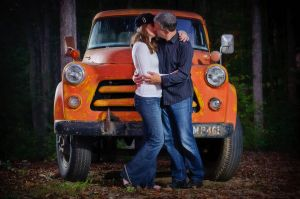 Vintage dodge truck Apison TN engagement session