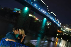 Chattanooga Walking Bridge, Coolidge Park Engagement session
