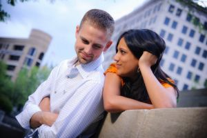 Miller Plaza, downtown Chattanooga engagement session.