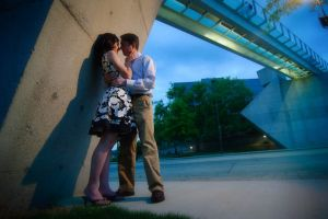 Chattanooga Hunter Museum glass bridge engagement session